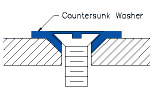 countersunk washer drawing